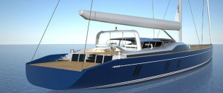 View large version of image: Construction of 46m Tripp Design Yacht starts