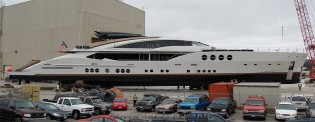 View large version of image: First PJ 210 Yacht LADY M (Project Stimulus) launched by Palmer Johnson