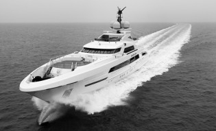 View large version of image: Superyacht GALACTICA STAR with FDHF by Van Oossanen successfully completes sea trials