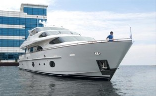 View large version of image: Horizon RP105 Yacht AGORA completes her first sea trial with great success