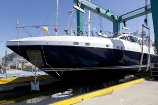 View large version of image: First Mangusta 94 Yacht launched by Overmarine Group Mangusta