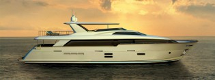 View large version of image: Latest Hatteras 100 RPH Yacht to make her premiere at this year's FLIBS