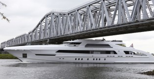 View large version of image: New Heesen FDHF mega yacht GALACTICA STAR completes sea trials