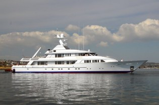 View large version of image: Pendennis refitted charter yacht TELEOST under sea trials