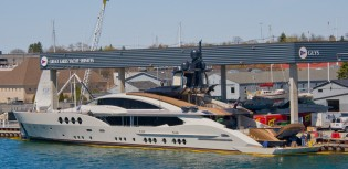 View large version of image: Palmer Johnson superyacht LADY M delivered