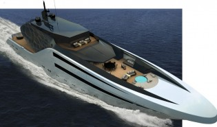 View large version of image: Young Designer of the Year Finalist 2013 Juan Ortiz Rincon presents his 65m Yacht ANACONDA concept