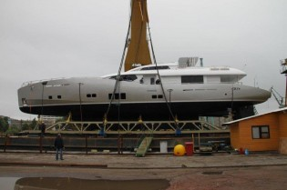 View large version of image: Conrad Shipyard launch Conrad 115 superyacht LUNAR