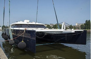 View large version of image: Sunreef 80 Carbon Line Yacht LEVANTE launched