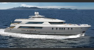 View large version of image: New 42m superyacht Hemisphere 140 by MCP Yachts scheduled for launch on July 6