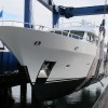 Moonen 94 Yacht INFINITY repainted by Goodacre Boat Repairs and Refits