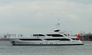 View large version of image: Proteksan Turquoise launch NB56 superyacht ILERIA