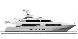 View large version of image: Sunrise Yachts sign order for completion of 45m superyacht Project Sunset