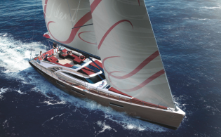 View large version of image: Admiral Tecnomar presents all-new sailing yacht SILENT 76