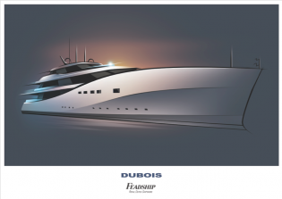View large version of image: New 90m superyacht P0513 concept penned by Dubois for Feadship