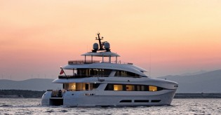 View large version of image: First half of cruising season in Turkey completed by 34m Curvelle superyacht QUARANTA