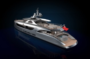 View large version of image: New 52m superyacht Admiral 52 to be constructed by Admiral