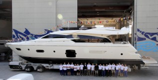 View large version of image: Luxury yacht Ferretti 750 launched by Ferretti Yachts