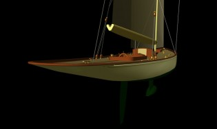 View large version of image: Classic yacht F110 concept by Fairlie Yachts