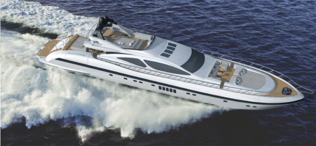 View large version of image: Maxi Open motor yacht Mangusta 132