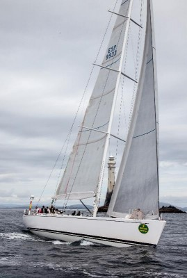 View large version of image: Swan Challenge Trophy for Swan 80 superyacht PLIS PLAY at Rolex Fastnet Race