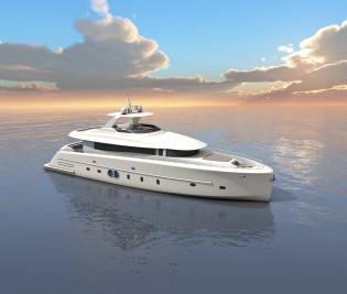 View large version of image: Latest 24m superyacht MALLORCA concept by Moonen and Nick Mezas