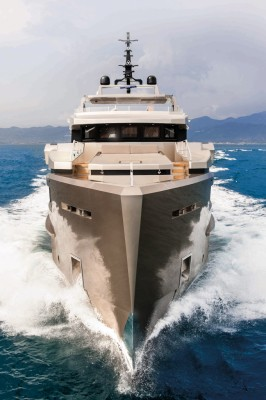 View large version of image: Admiral Tecnomar superyacht CACOS V to be presented at Monaco Yacht Show