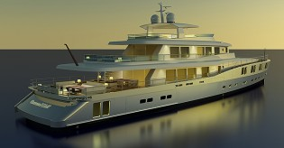 View large version of image: Barracuda unveils new 50m superyacht B165 concept at MYS