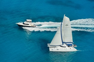 View large version of image: Seychelles Yacht Charter – 60ft Catamaran NKALINDAU
