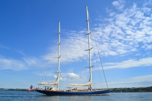 View large version of image: Pendennis starts working on winter refit of REBECCA superyacht