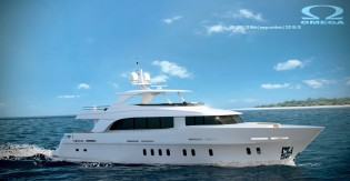 View large version of image: Outfitting of the new motor yacht Mulder 94 Voyager to start this week