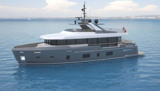 View large version of image: New superyacht Discovery 88 project under development at Kingship