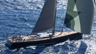 View large version of image: Debut of Southern Wind 94 Yacht Windfall Pioneer Investments at Maxi Yacht Rolex Cup 2013