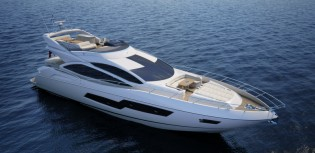 View large version of image: World premiere for Sunseeker 80 Sport Yacht at Southampton Boat Show