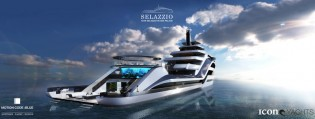 View large version of image: Latest 95m superyacht Selazzio 95 Sea Palace concept introduced by ICON Yachts