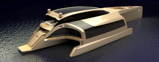 View large version of image: First luxury TRIMARAN 210 yacht concept by Sunreef Yachts