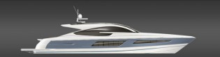 View large version of image: New motor yacht Targa 75GT introduced by Fairline Boats