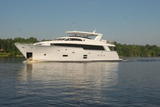 View large version of image: Hatteras 100 RPH Yacht to make her international premiere at FLIBS
