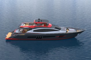 View large version of image: New Lazzara superyacht LSX95 to make her premiere at 2013 FLIBS