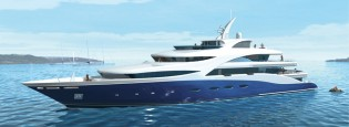 View large version of image: New 71m mega yacht BALTIKA (Project A1331) launched by Sevmash