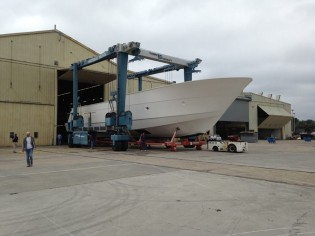 View large version of image: Second Hatteras 100 RPH Yacht in build
