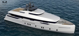 View large version of image: New 30m Omega Architects Yacht Concept designed for Owner of Alia Yachts