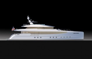 View large version of image: Latest 35m RPH superyacht design by Burger Boat and Gregory C. Marshall