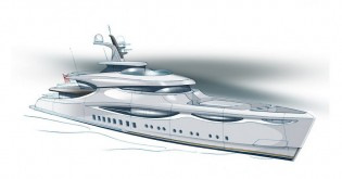 View large version of image: Claydon Reeves' new superyacht METEORA concept designed for Pendennis