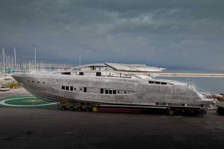 View large version of image: Riva 122' superyacht MYTHOS with launch in February 2014