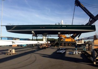 View large version of image: Baltic Yachts working on refit of Wally superyacht NARIIDA