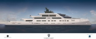 View large version of image: Messerschmitt Yachts unveils 105m mega yacht MTT-REFUGIUM