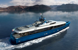 View large version of image: Admiral to construct new 40m hybrid-powered superyacht Impero 40