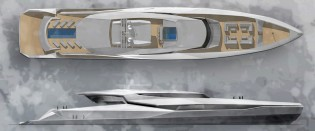 View large version of image: Design Unlimited reveals new 72m superyacht Project VORA