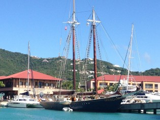 View large version of image: 137ft schooner ROSEWAY at IGY's Yacht Have Grande Marina