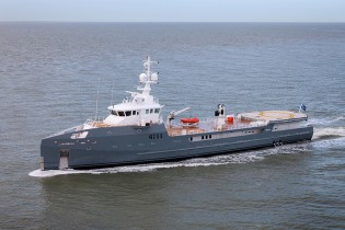 View large version of image: Damen 67m SEA AXE 6711 Fast Yacht Support Vessel undergoes successful sea trials